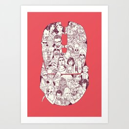 Adulthood Mash-Up Art Print