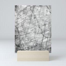Cracks in timber Textures 3 Mini Art Print