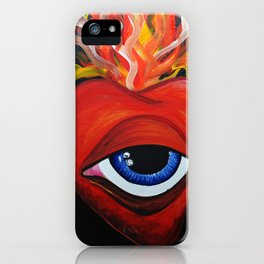 Heart exploding iPhone Case