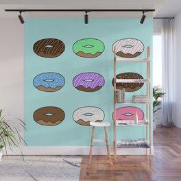 Donut Pattern Wall Mural