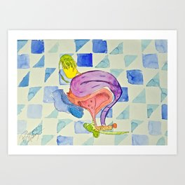 Outrageous Ovaries Art Print