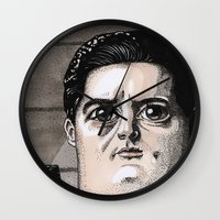 dale cooper Wall Clocks featuring Dale Cooper by Drawn by Nina