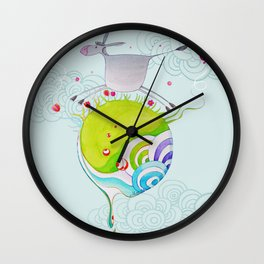 """""""L'âne rit"""" Wall Clock"""