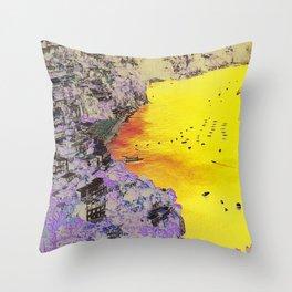 AMALFI COASTLINE Throw Pillow