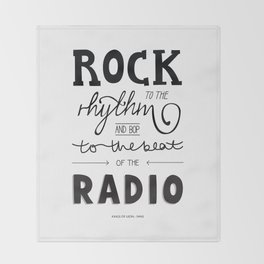 Kings of Leon hand-lettered print Throw Blanket
