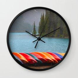 Canoes Wall Clock