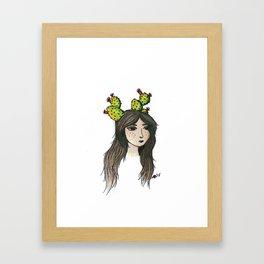 Prickly Fae Framed Art Print