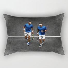 Nadal and Federer Doubles Rectangular Pillow