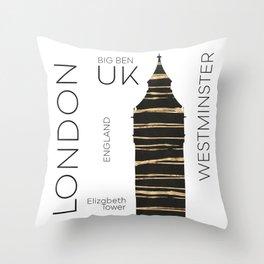 Urban Art LONDON Big Ben Throw Pillow