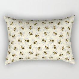 Busy Bees Pattern Rectangular Pillow