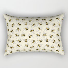Busy Bees Pattern Rectangular Pillow