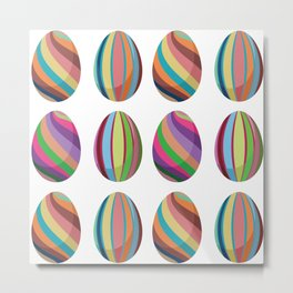 Colorful easter eggs Metal Print