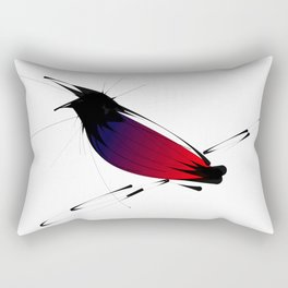 Crow on Branch Rectangular Pillow