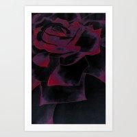 Watercolour Rose Variant Art Print