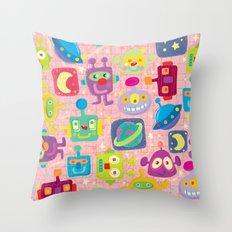 sweet bots Throw Pillow