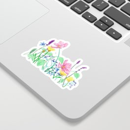 Floral Border - Summer Colours Sticker