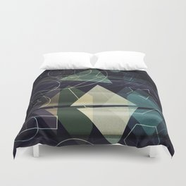 The Geometry of Thoughts Duvet Cover