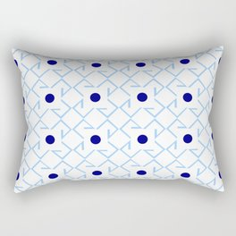 Antic pattern 9- from LBK blue Rectangular Pillow