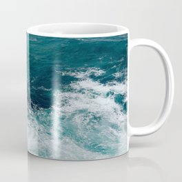 Ocean Waves (Teal) Coffee Mug