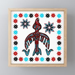 The Raven -Tlingit inspired Framed Mini Art Print