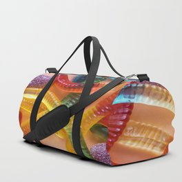 Go and Eat Worms :) Gummy Worms Candy Duffle Bag