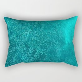 blue coral Rectangular Pillow