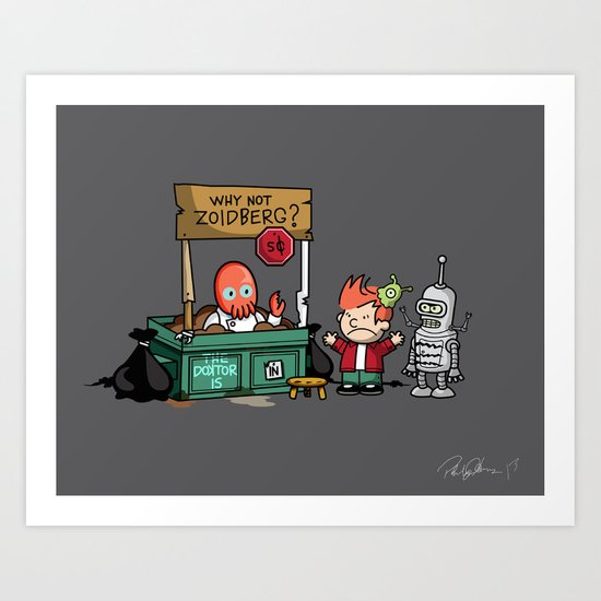 Zoidberg is In - Signed Art Print