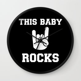This Baby rocks Wall Clock
