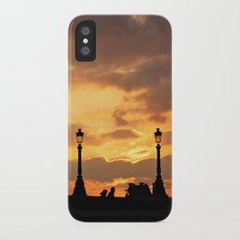 A sunset in Paris iPhone Case
