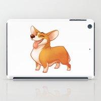 corgi iPad Cases featuring Corgi by Chelsea Kenna