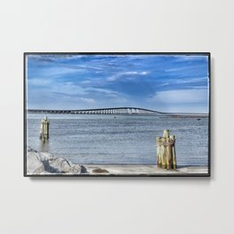 Bridge to sand and sea Metal Print
