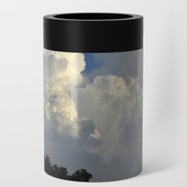 Billowing White Clouds Brilliant Blue Sky Can Cooler