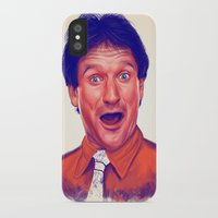 robin williams iPhone & iPod Cases featuring Young Robin Williams  by Thubakabra