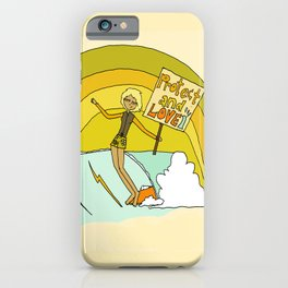 Protect and Love the Sea Lady Slider // retro surf art by surfy birdy iPhone Case