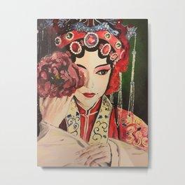 Madam Chinese Opera  Metal Print