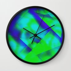 Green Color Package Wall Clock