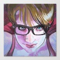 sarah paulson Canvas Prints featuring Sarah by Marc Scheff