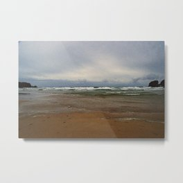 """Bedruthan Beach (i)"" by ICA PAVON Metal Print"