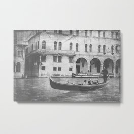 Together on the Canal Metal Print