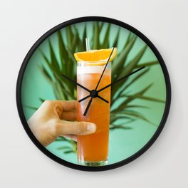 Cocktail Paradise Wall Clock