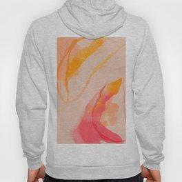 Abstract Watercolor Sorbet Hoody