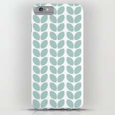 leaves - robins egg blue iPhone 6s Plus Slim Case