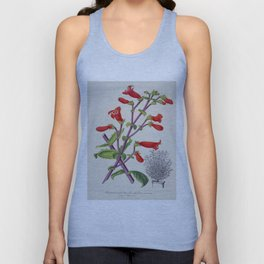 Penstemon Baccharifolius Vintage Botanical Floral Flower Plant Scientific Unisex Tank Top