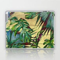 Tropical Palm Leaves on Wood Laptop & iPad Skin