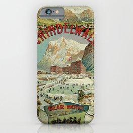 Vintage Grindelwald Swiss winter sport travel advert iPhone Case