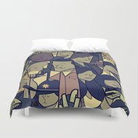 ale giorgini Duvet Covers featuring The Walking Dead by Ale Giorgini