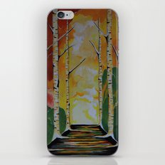 Meet Me By The Birches iPhone & iPod Skin