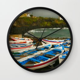Portuguese harbour Wall Clock