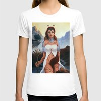 borderlands T-shirts featuring Warrior Guardian of Fae Borderlands by Rudrani Devi Das