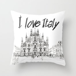 Duomo di Milano - schizzo Throw Pillow